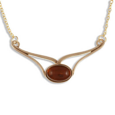 Amber curl Bronze necklace