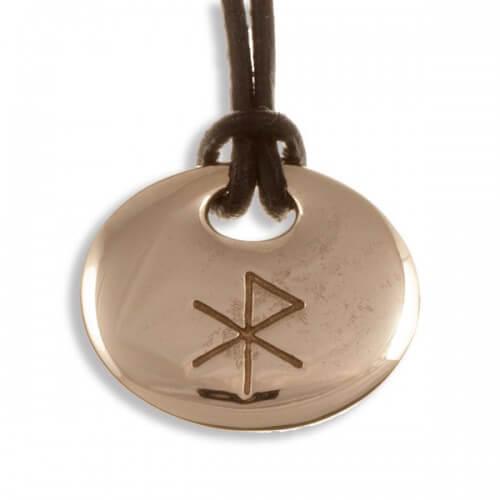 Liefde bind rune bronzen hanger