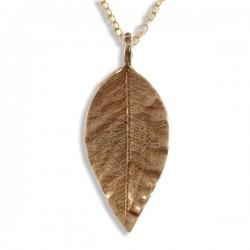 Puntige blad bronzen hanger