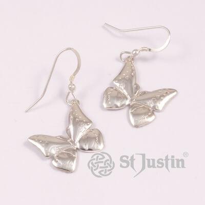 Vlinder zilveren oorbellen