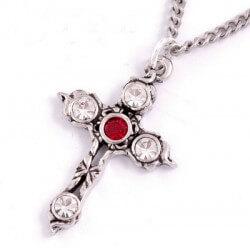 Kristallen kruis ketting