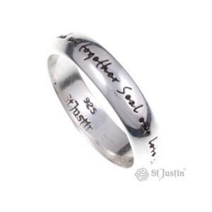Engels liefdezilveren ring
