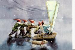 Postcards Inge look elves