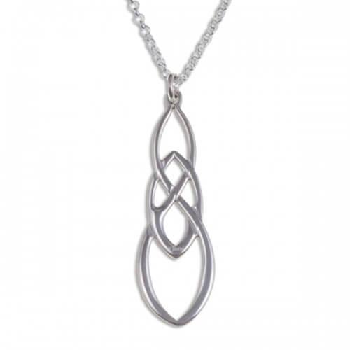 Linked knot Zilveren hanger