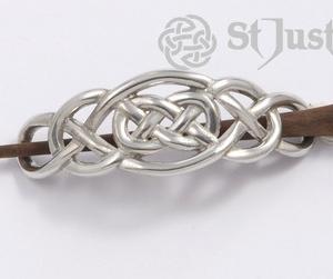 Keltische knoop haarspel met rosewood pin (PH49)