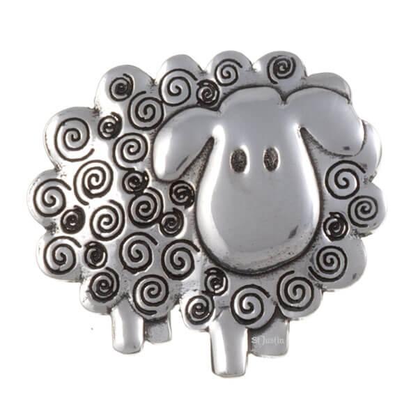 Swirly sheep broche,