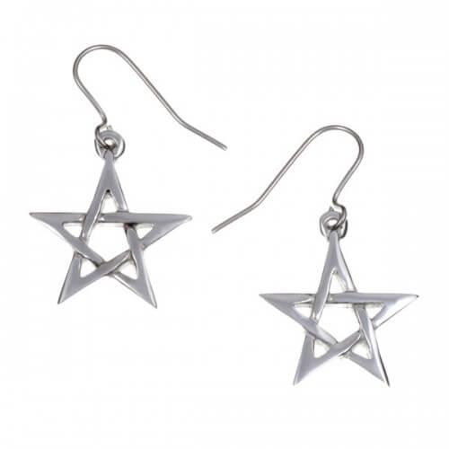 Pentagram oorbellen