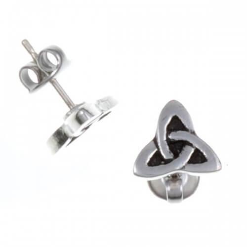 Trefoil knot studs PE32