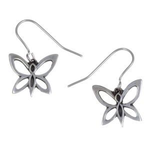 vlinder oorbellen