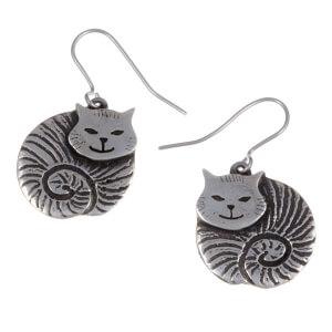 Dikke kat oorbellen