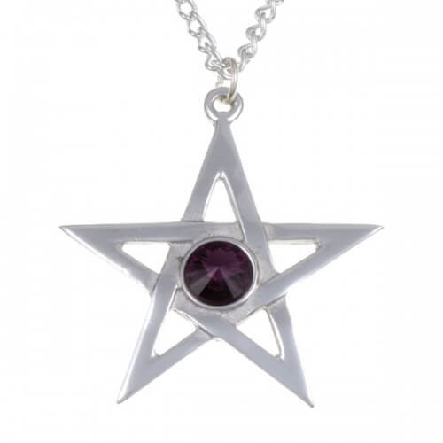 Paars Pentagram hanger