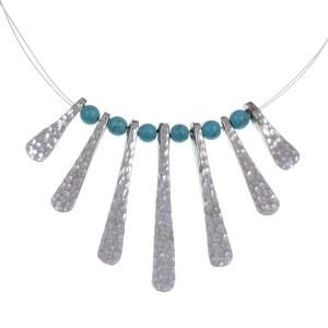 Egyptian turquoise bead hanger
