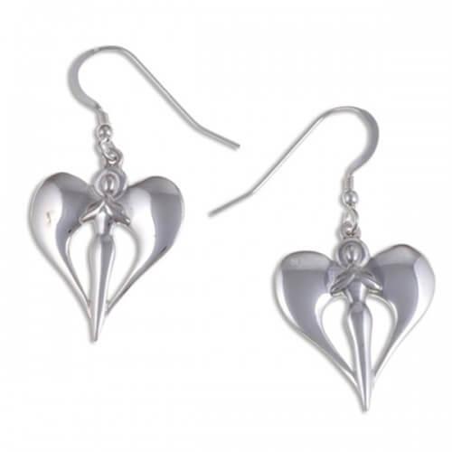 Angel Zilveren Oorbellen (SE513)