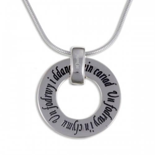 Welsh Love Ring Zilveren hanger