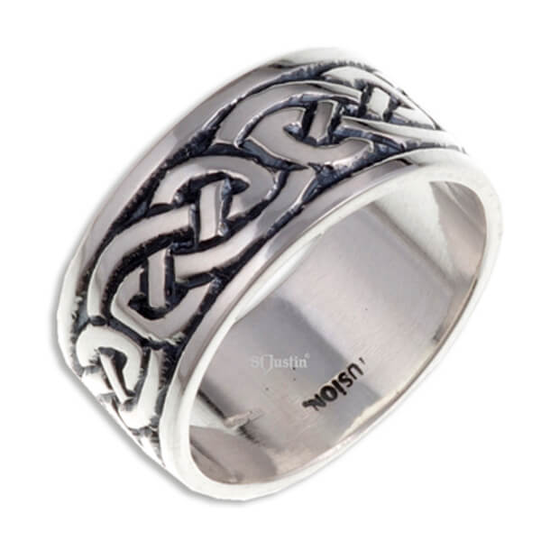 Endless Knot (Broad) Zilveren Ring (SR912)