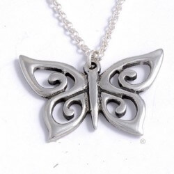 Spiral butterfly pendant