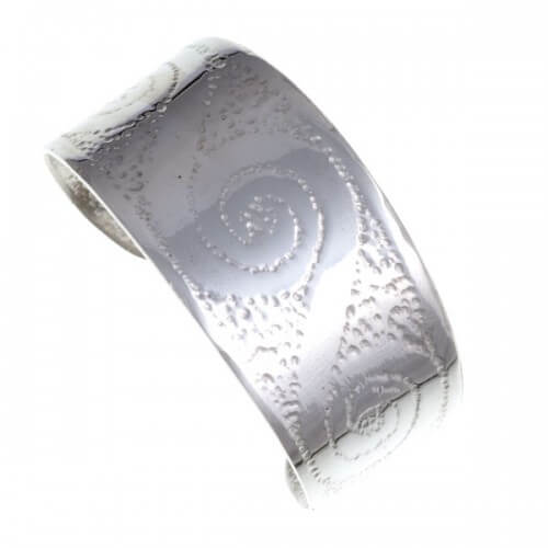 Spiral wide Armband- open