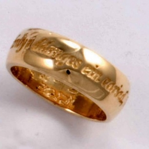 Welsh Love Ring  9ct Geel Goud    (GR923)