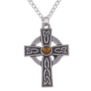 St Petroc's gemstone keltisch kruis