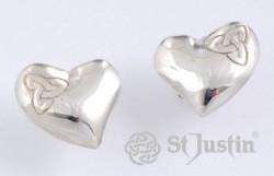 Heart Zilveren Oorbellen met Triscele