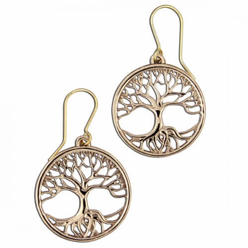 Tree of life Bronzen oorbellen
