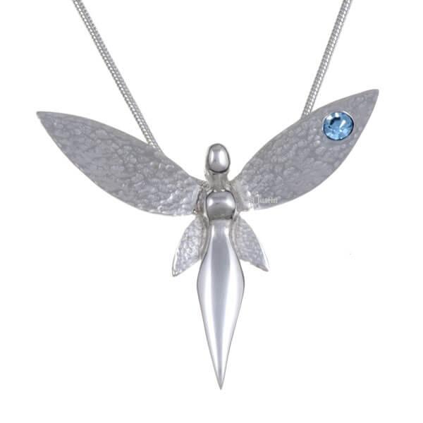 fee hanger met Aquamarine