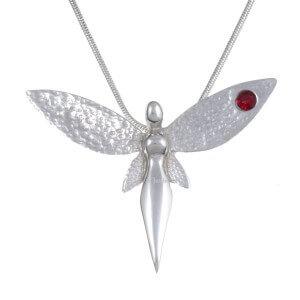 Fairy hanger met Rrobijn rood kristal
