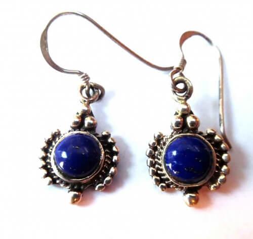 zilver oorbellen met Lapis Lazuli