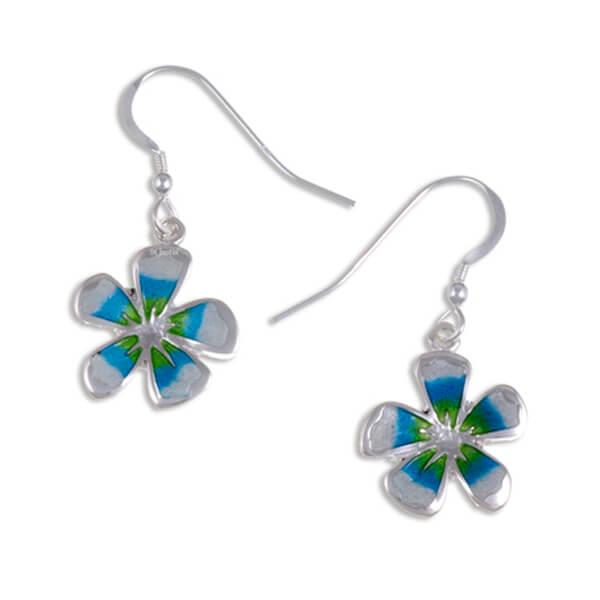 Fleur zilveren oorbellen