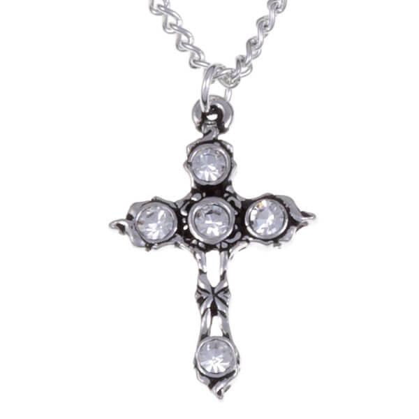 Kristallen kruis ketting met Helder Crystal