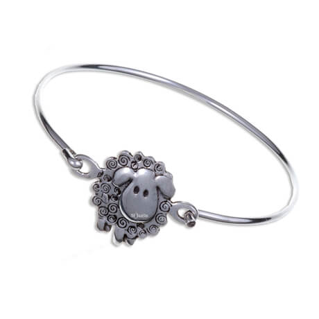 Swirly sheep clip bangle