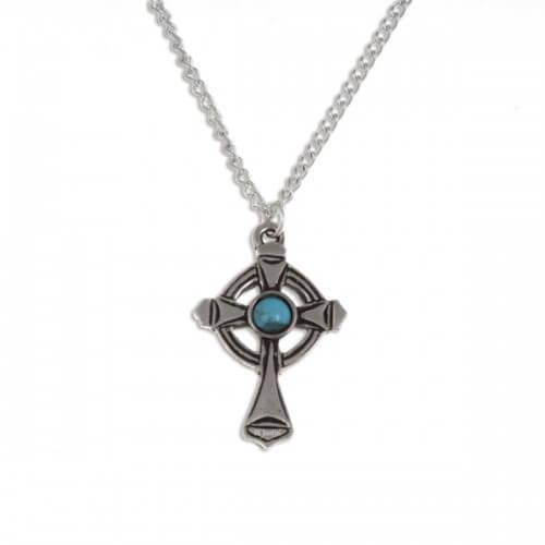 St Luke kruis met turquoise