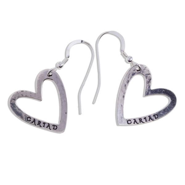 zilveren oorbellen liefde