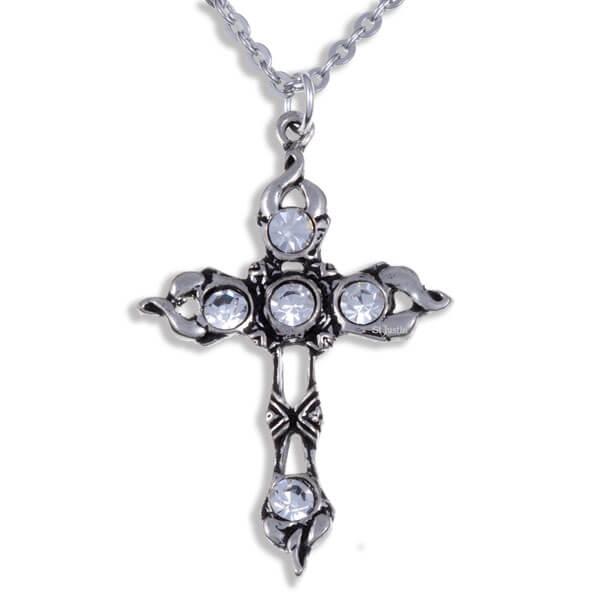 Crystal kruis met Helder crystals