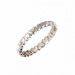 Zilveren harten ring