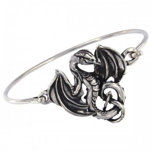 Gevleugelde draak klem armband