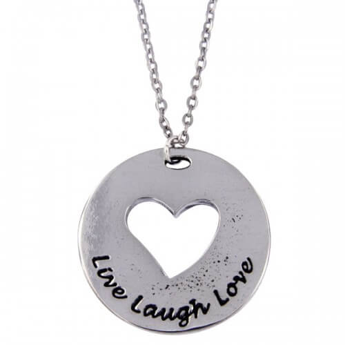 Live laugh love heart hanger,