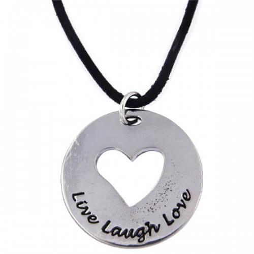 Live lach liefde hart hanger