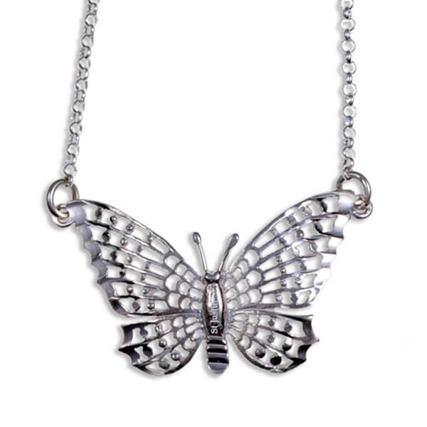 Vlinder zilveren hanger