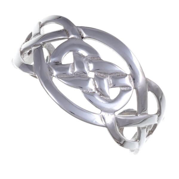 Witte Keltische knoop armband