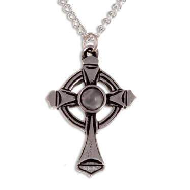 St Luke kruis Regenboog maansteen