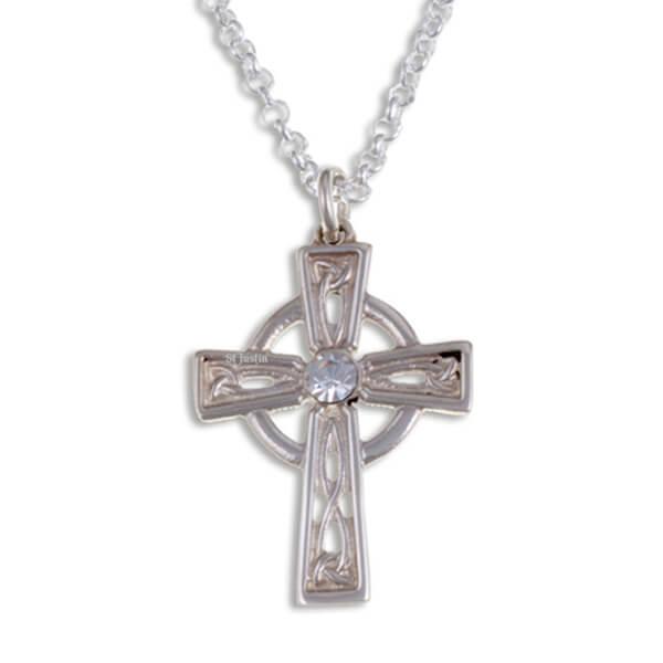 Kristal Keltisch zilveren kruis