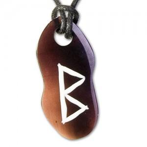 Berkana Rune hanger