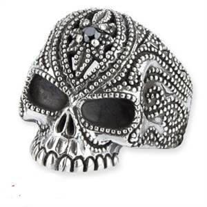 zilveren ring Tattoo schedel