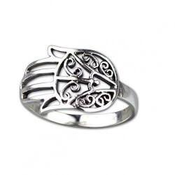 Fatimah's Hand Zilveren Ring