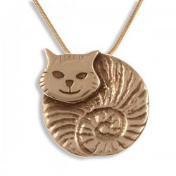 Dikke kat bronzen hanger