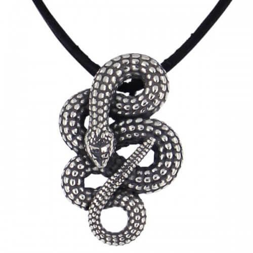 Opgerolde slang hanger