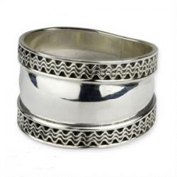 Zilveren Ring Twee golven