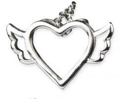 zilveren hanger Vliegend hart