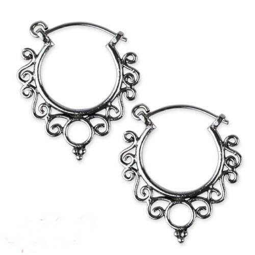 ,Indian Ornament zilveren oorbellen